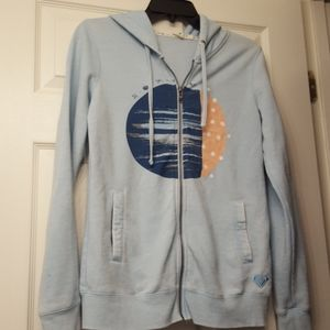Roxy soft light blue hoodie